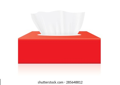 White Tissue box blank label and no text for mock up packaging