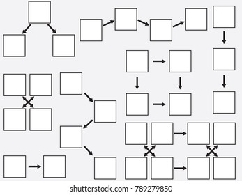 White topics diagram illustrated on gray background