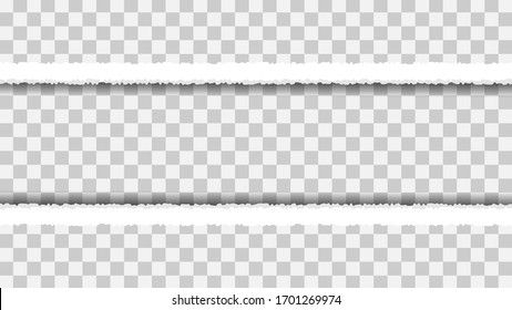 White Torn Paper Cut Ripped Template Background