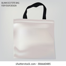 white tote bag with black handles for your design