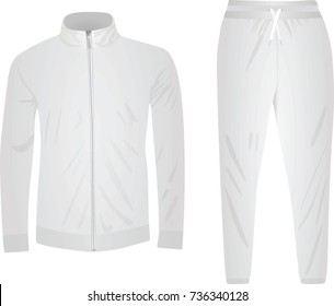 White tracksuit. vector illustration