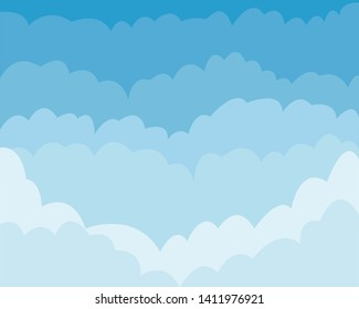 White and transparent clouds on the blue sky