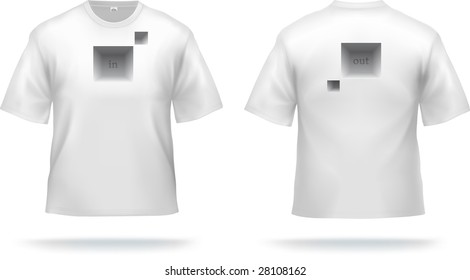 White T-shirt with abstract design (easy to remove). VECTOR, contains gradient mesh elements.