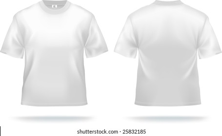 White T-shirt design template (front & back). Contains gradient mesh elements, lot of details. More clothing designs in my portfolio!