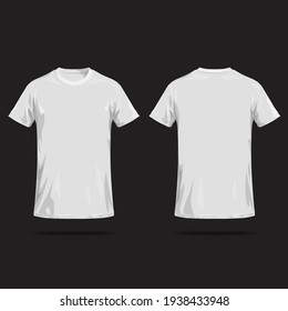 White T-shirt on black background.