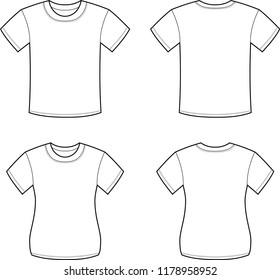 White T-shirt set