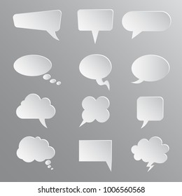 White twelve icons communication - stock vector