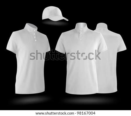 white uniform template polo shirts baseball stock vector royalty
