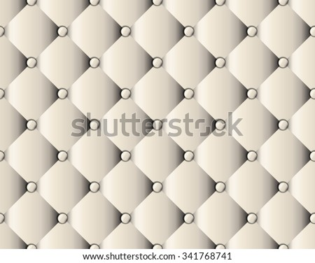 White Upholstery Sofa Texture Pattern Background Stock Vector