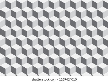 White vector abstract  background, geometric background in square style.