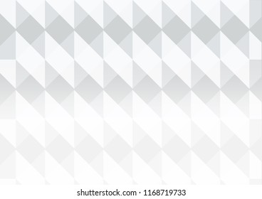 White vector abstract polygonal background.