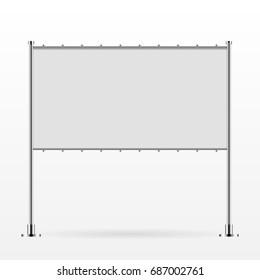White vector advertising banner vector eps 10