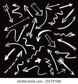 white vector arrows