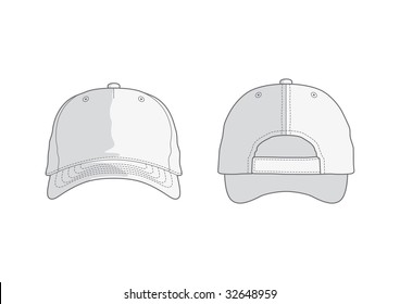 White vector baseball cap
