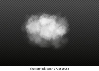 White vector cloudiness ,fog or smoke on dark checkered background.Cloudy sky or smog over the city.Vector illustration.