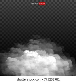 White vector cloudiness, mist smog background. Fog or smoke isolated transparent special effect. Illustration vektor EPS10