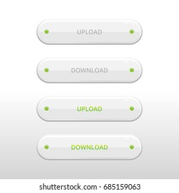white vector download button for your site