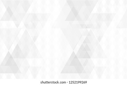 White vector pattern. Brand-new rectangular template. Shining geometric sample. Repeating theme with rectangular shapes. Texture for your design.
