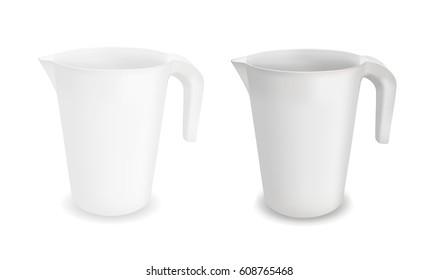 White vector plastic jug