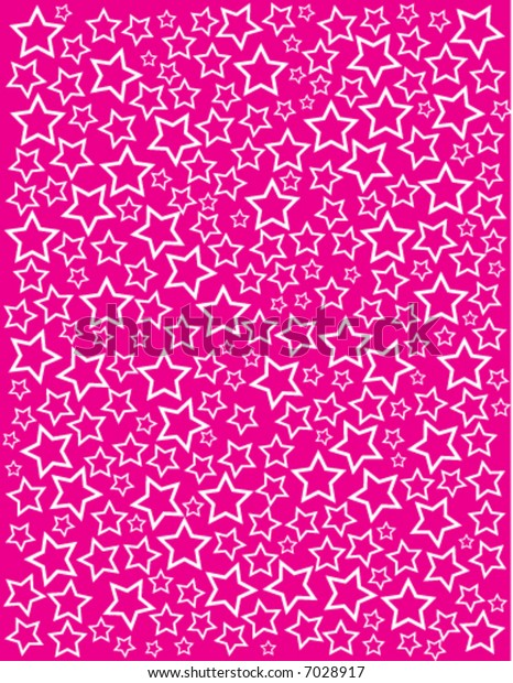 White vector stars on a pink background