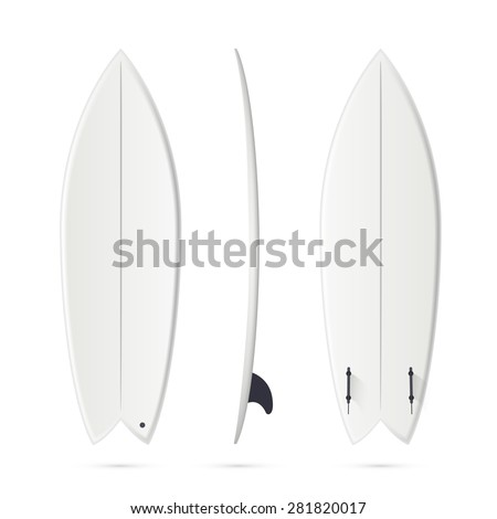 white vector surfing board template fish stock vector royalty free