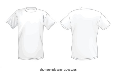 Royalty Free Stock Illustration Of Mens White Tshirt Design Template