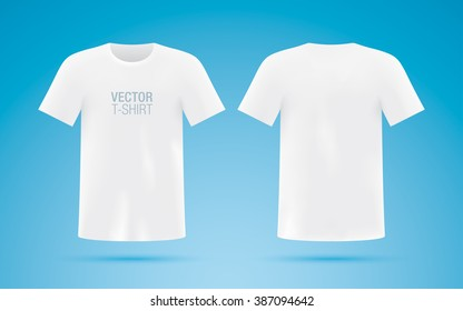 White vector T-shirt. Front & back sides.