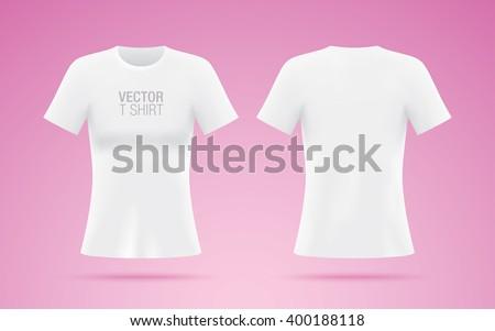 White Vector Tshirt Woman Tshirt Template Stock Vector Royalty Free