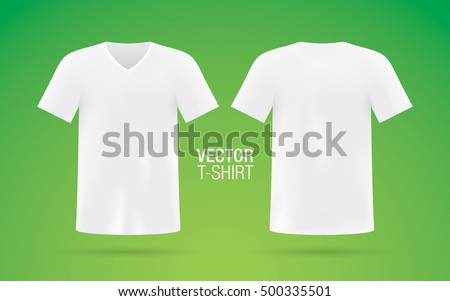 4af1f22cb White Vector Vneck Tshirt Template Mens Stock Vector (Royalty Free ...