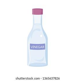 White Vinegar Bottle. Isolated on white background