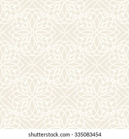 White Vintage Background Traditional Ottoman motifs.Ornamental  seamless pattern in mosaic ethnic style.Vector illustration