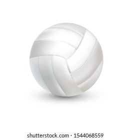 White Volleyball Ball. Realistic sporting equipment. vector illustration
