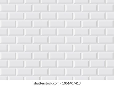 White wall tile like in the Parisian subway