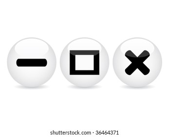 white web buttons vector illustration