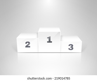 White winners podium for business concepts vector illustration