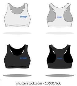 White woman TOP. Simple vector, easy to recolor. More clothing designs in my portfolio!