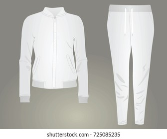 White women tracksuit. vector illustration