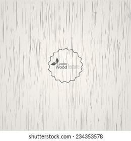 White wood background. Panel with a fibrous structure of the tree. Wooden texture. Vector