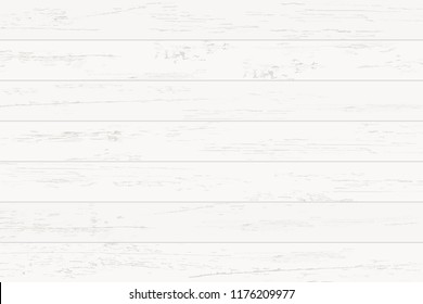 White wood pattern and texture for background. Vector illustration.