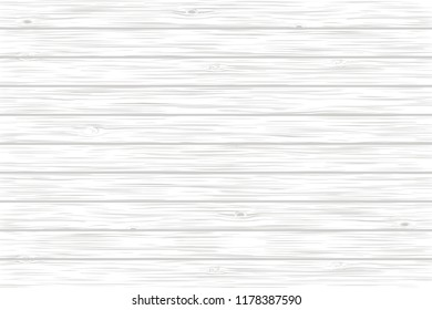White wood plank texture. Vector background