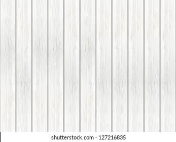 White wooden background - vector illustration