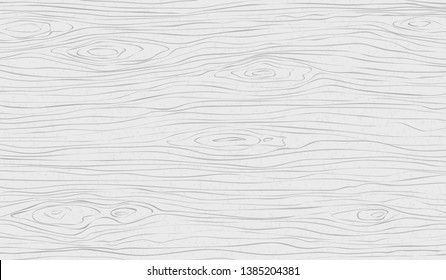 White wooden cutting, chopping board, table or floor surface. Wood texture. Vector illustration