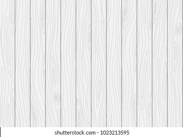 White wooden plank texture. Vector wood background
