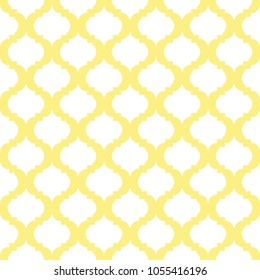 white and yellow quatrefoil pattern, seamless texture background