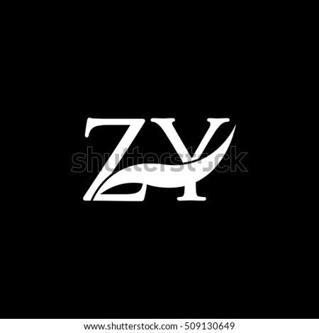 White ZY Swoosh Logo Vector St...