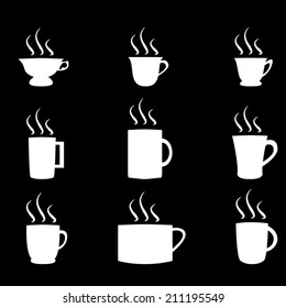 White_Coffee_And_Tea_Cup_Icon_Set