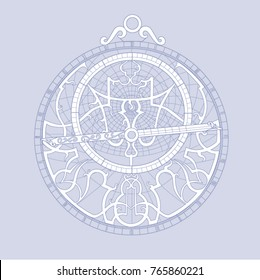 The white-blue pattern of the linear astrolabe