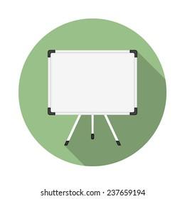 Whiteboard icon, flat design, vector eps10 illustration