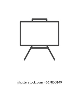 Whiteboard line icon, outline vector sign, linear style pictogram isolated on white. Dry erase board symbol, logo illustration. Editable stroke. Pixel perfect graphics
