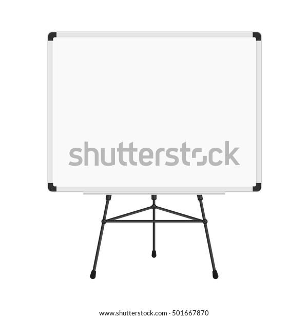 Image Vectorielle De Stock De Tableau Blanc Sur Trepied Panneau D